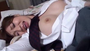 Shot at fun staring at beautiful Oriental chick getting banged sexy