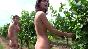 Skinny moll gets fucked and acquires cumshots with reference to open air