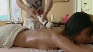 Hunk is delighting stripped looker with sensual oil massage