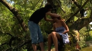 Wide forest vasts are usual of a legal age teenager sex with a filthy blond